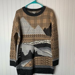 Woolrich mountain tree tunic sweater size M NWT